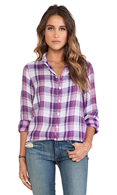 CP SHADES Carine Plaid Shirt in Purple