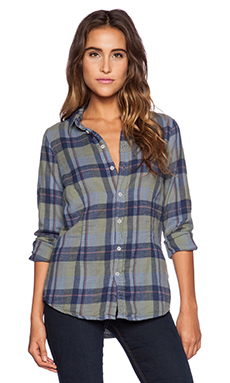 CP SHADES Marissa Plaid Button Up in Blue Toy