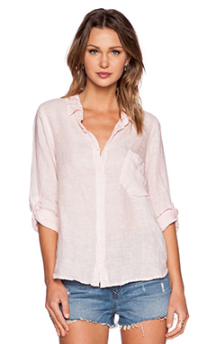 CP SHADES Jay Chambray Button Up in Wash Pink