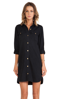 Current/Elliott The Perfect Shirtdress in Noir