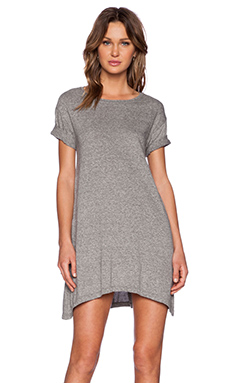 Current/Elliott The Knit Tee Dress in Heather Grey