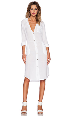 Current/Elliott The Long Shirt Dress in Sugar