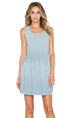 Current/Elliott The Bay Dress in Blue & White Gingham