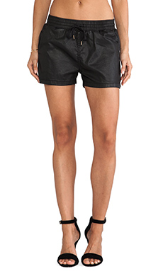 Current/Elliott The Drawstring Short in Black Coated