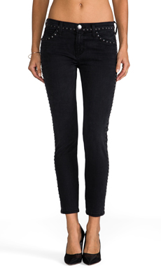 Current/Elliott Crop Skinny in Night Stud Wash