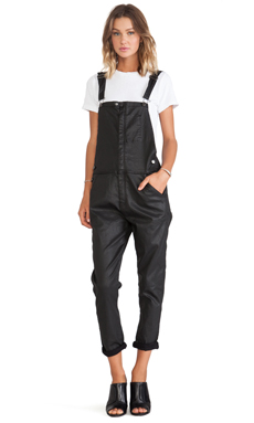 Current/Elliott The Ranchhand Overall in Black Coated