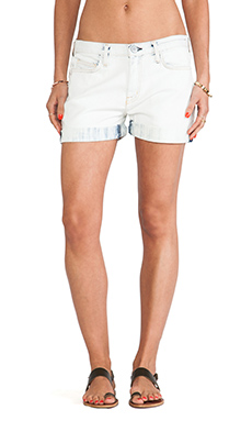 Current/Elliott The Boyfriend Short in White Wash