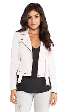 Current/Elliott The Biker Jacket in Dusty Pink