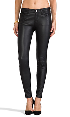 Current/Elliott The Ankle Leather Skinny in Black