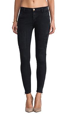 Current/Elliott The Flat Pocket Pant in Washed Black