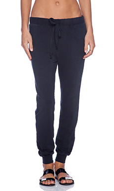 Current/Elliott The Slim Vintage Sweatpant in Black Beauty