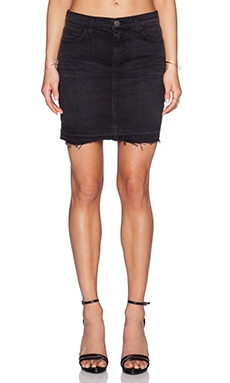 Current/Elliott The Skinny Mini Skirt in Drifter