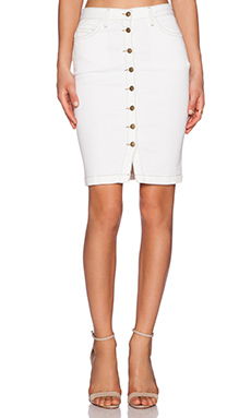 Current/Elliott The Dorothy Skirt in Sandy White