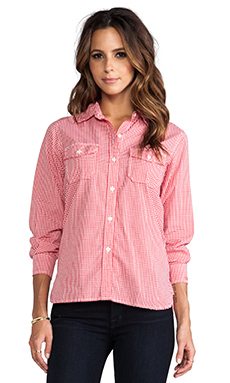 Current/Elliott The Perfect Shirt in Red