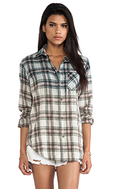 Current/Elliott The Prep School Shirt in Ombre Laurel