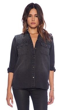 Current/Elliott The Perfect Studded Shirt in Montrose