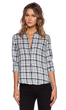 Current/Elliott The Slim Boy Shirt in Witty Plaid