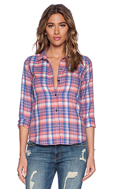 Current/Elliott The Slim Boy Shirt in Stardust Plaid
