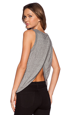 Current/Elliott The Cross Back Muscle Tee in Heather Grey