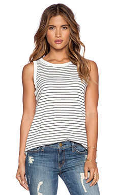 Current/Elliott The Muscle Tee in Oakland Stripe