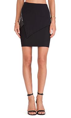 Cut25 by Yigal Azrouel Asymmetric Paneled Skirt in Jet