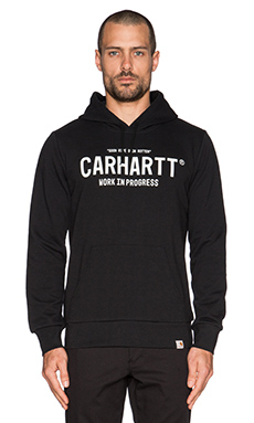 Carhartt WIP Hooded Soon Sweatshirt in Black/White
