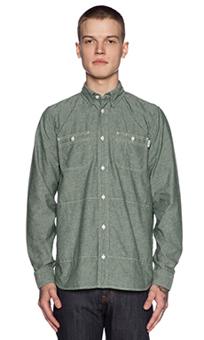 Carhartt WIP Alex Button Down in Bottle Green