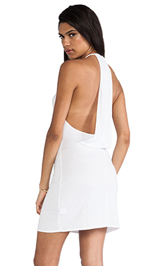 Daftbird Draped Back Dress in White