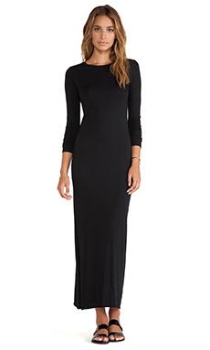 Daftbird Crew Maxi Dress in Black