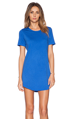 Daftbird Tee Dress in Cobalt