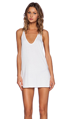 Daftbird Racerback Tank Dress in White