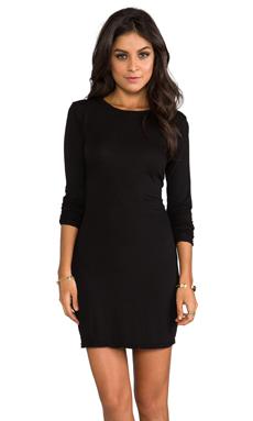 Daftbird Long Sleeve Mini Dress in Black