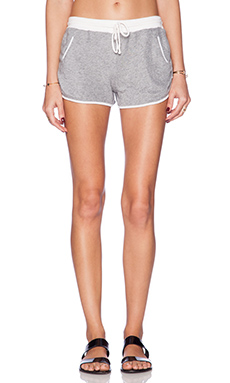 Daftbird Contrast Shorts in White