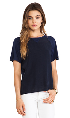 Daftbird Contrast Color Tee in Yankee