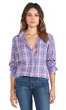 Daftbird Button-Up Blouse in Plaid