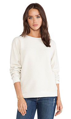 Daftbird French Terry Sweatshirt in Bone