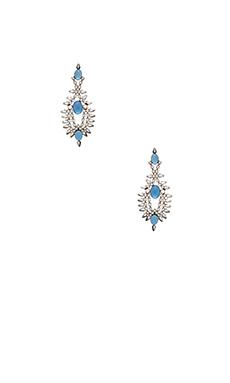 DANNIJO Alessia Earrings in Matte Black & Sky Blue