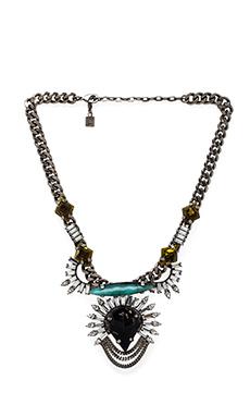 DANNIJO Arley Necklace in Silver & Italian Nero