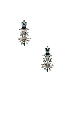 DANNIJO Everly Earrings in Silver & Crystal