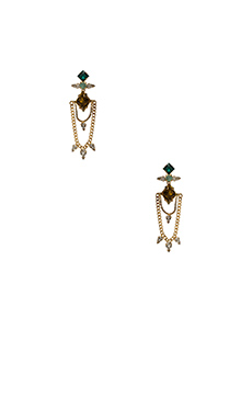 DANNIJO Nadia Earrings in Gold & Italian Olivine