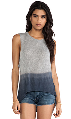 DAYDREAMER The Nina Tank in Indigo Ombre Dye