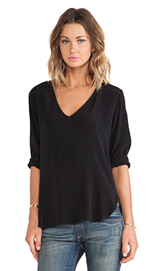 DAYDREAMER Cory Blouse in Black