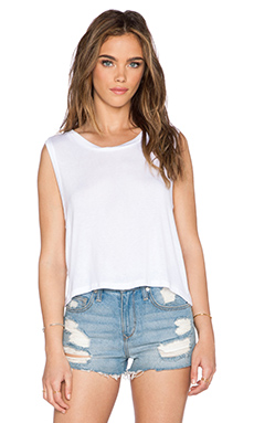 DAYDREAMER Crop Tank in White