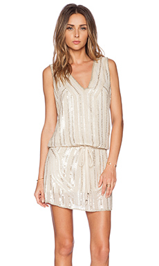 Deby Debo Binji Sequin Dress in Gold