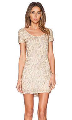 Deby Debo Jerry Sequin Dress in Gold