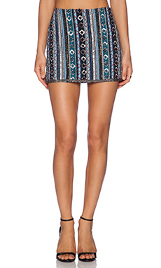 Deby Debo Mousse Embellished Skirt in Multi
