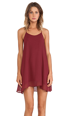 De Lacy Hollywood Mini Dress in Oxblood
