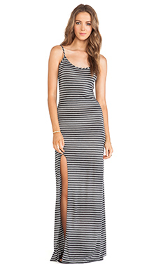 DeLacy Anika Maxi Dress in Grey & White