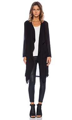 De Lacy Aidan Wrap Cardigan in Black