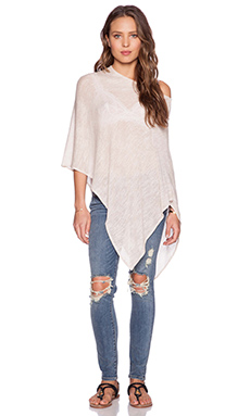 De Lacy Jet Poncho Sweater in Taupe
